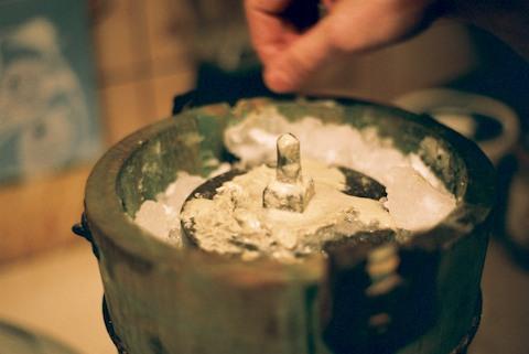 The first batch in Thibault's freezer